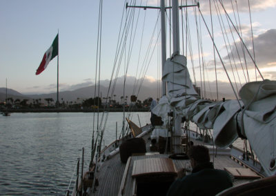 Anchored in Ensenada Harbor.
