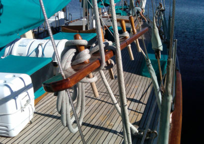 Belaying Pins Starboard Side Main Mast.