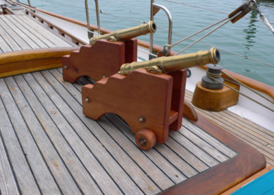Curlew's Herreshoff Signal Cannons.