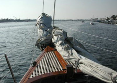 First Sail - shake down sail in Newport Harbor.