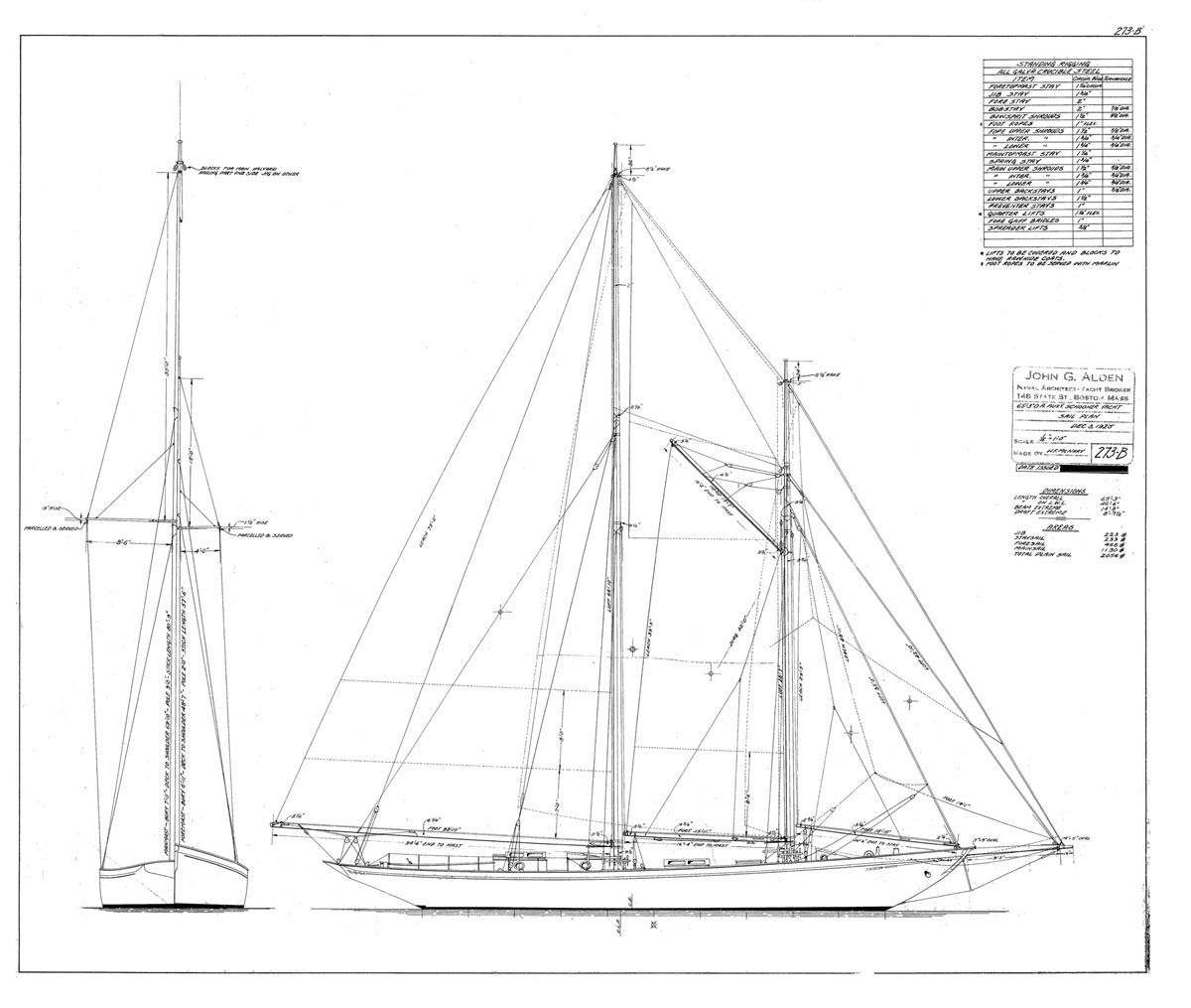 1925 Sail Plan
