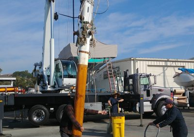 Early 2020, before COVID struck, we to satisfy USCG requirements unstepped Curlews masts at the Dana Point Shipyard